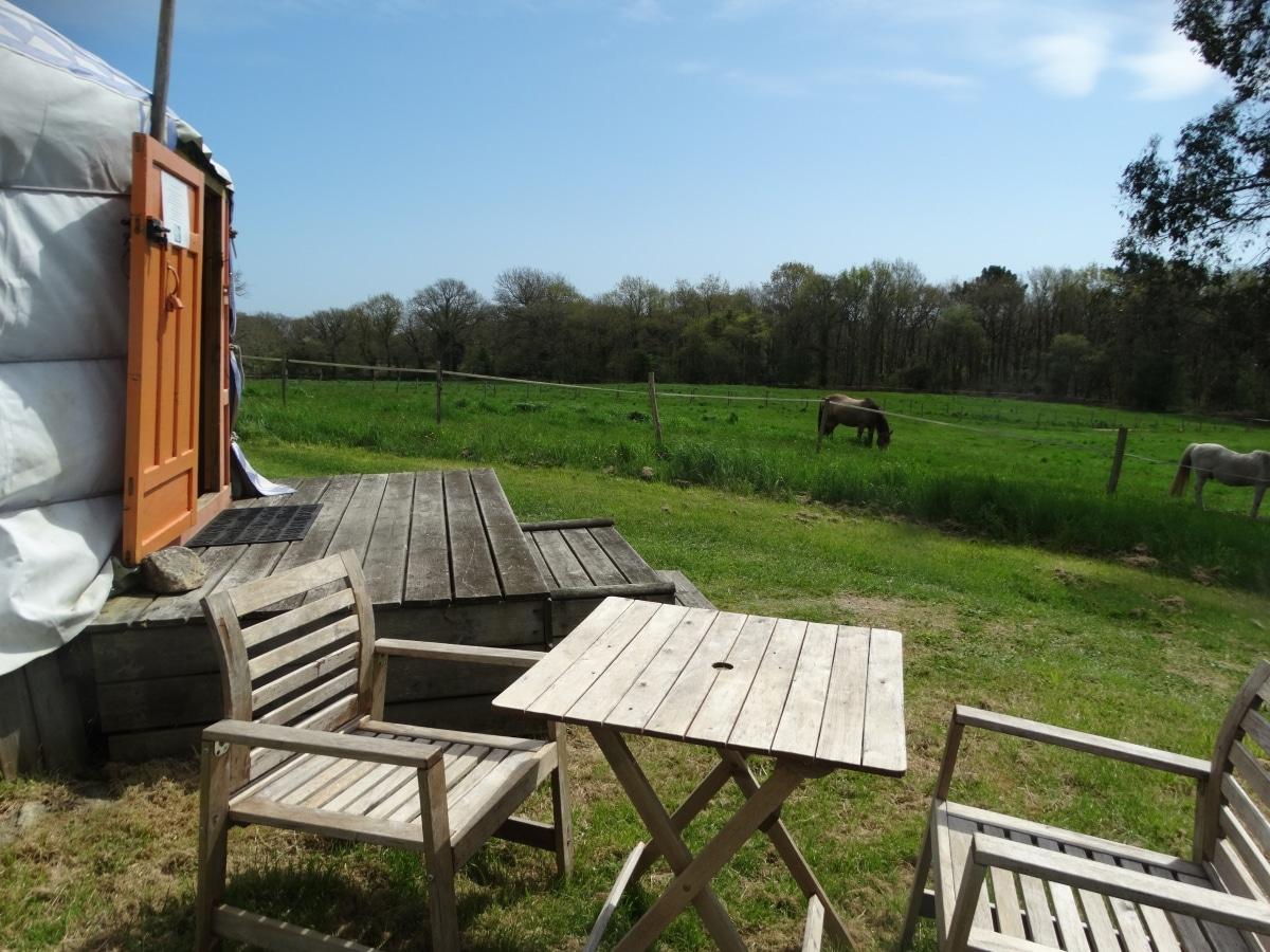 yourte avec vue sur les chevaux de dihan. Black Bedroom Furniture Sets. Home Design Ideas