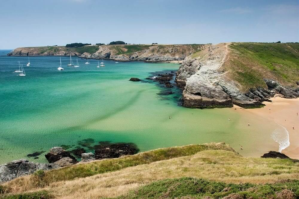 Pausage enchanteur de Belle île en mer en Bretagne