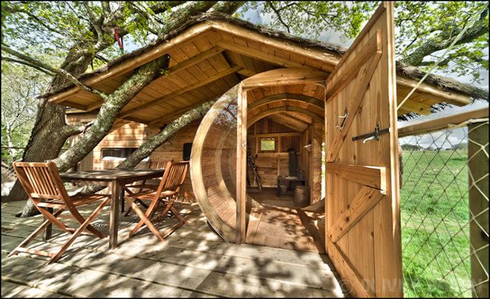 cabane dans les arbres bretagne cabane perch e morbihan. Black Bedroom Furniture Sets. Home Design Ideas