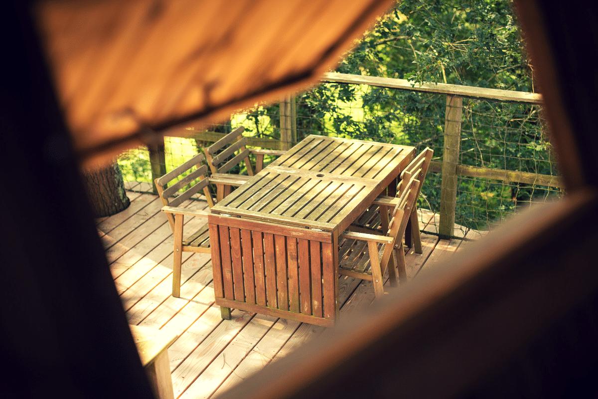 Cabane insolite baman terrasse