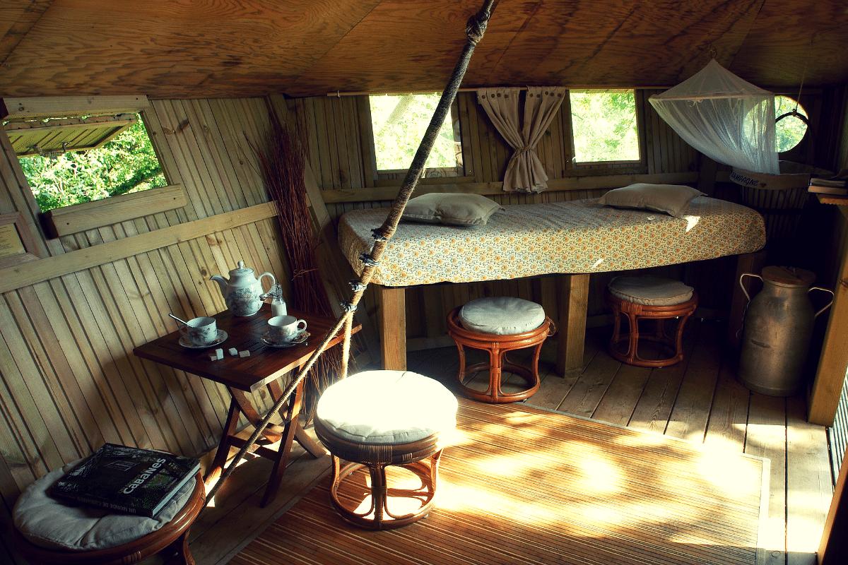cabane dans les arbres interieur