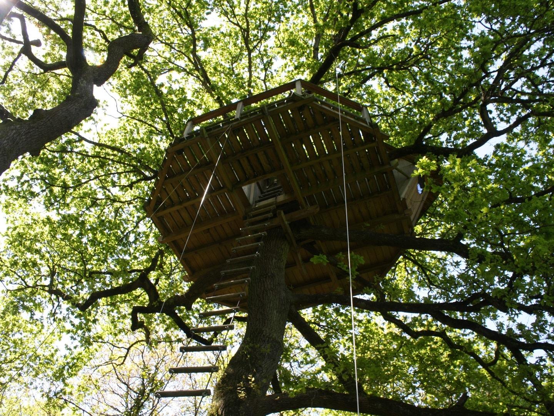 Cabane dans les arbres Nijal Bretagne