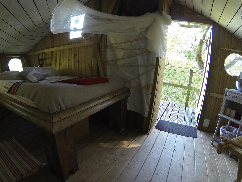 Intérieur cabane perchée Nijal