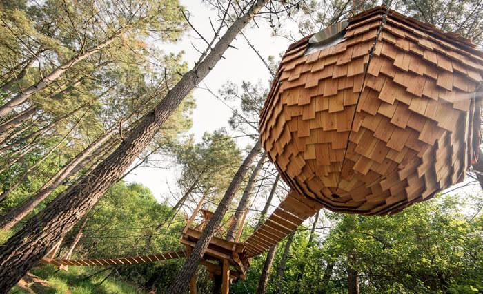 Cabane lov'nid - Dormir suspendu dans les arbres en Morbihan
