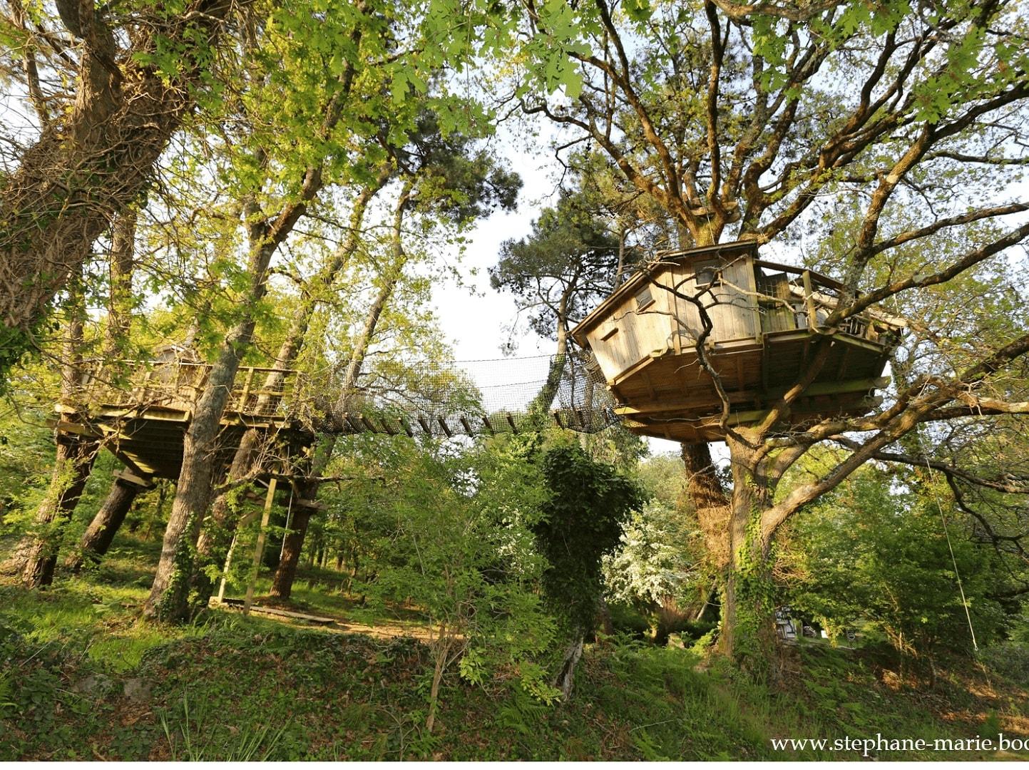 Cabane dans les arbres pradan morbihan