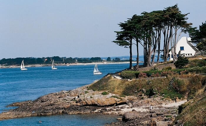 Tourism in Bretagne : the golfe du Morbihan islands