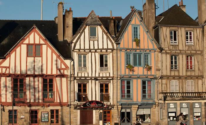 Maisons à colombages dans le centre historique de Vannes