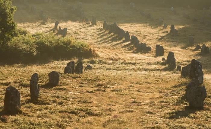 Alignements de menhirs à Carnac près de DIhan