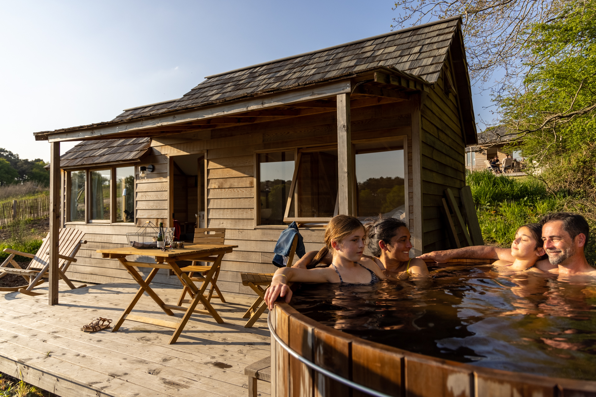 Location chalet avec jacuzzi privatif - Dihan evasion